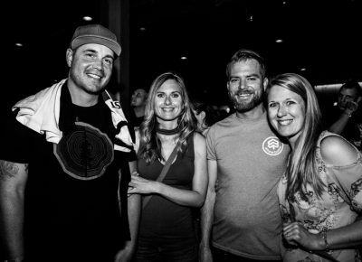 Brady, Ashely, Johnnie and Amber were at The Depot Saturday night. Photo: Gilbert Cisneros