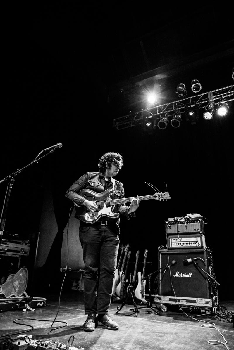 Mark Cisneros on guitar for Kid Congo & The Pink Monkey Birds. Photo: Gilbert Cisneros