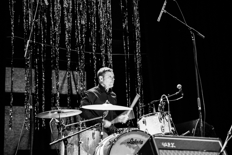 Ron Miller on drums for Kid Congo & The Pink Monkey Birds. Photo: Gilbert Cisneros
