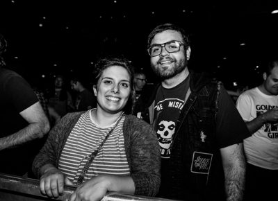 Jade and Johnny waiting to see Me First and the Gimme Gimmes. Photo: Gilbert Cisneros