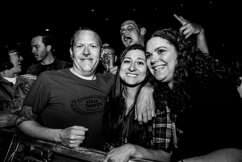 Doug, Melissa and Angella excited to catch the show. Photo: Gilbert Cisneros