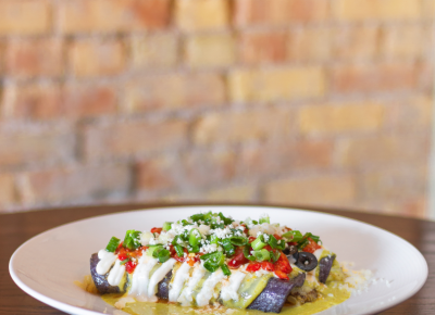 Braised Pork Enchilada ($20). Photo: Talyn Sherer.