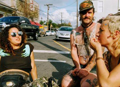 Salty goodness! Mardi Gras meetup with Salt Lake City characters: Daralee, Dallin and Pearl. Photo courtesy of Erika Longino.
