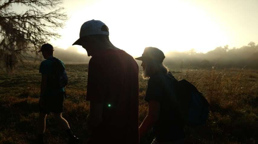 Sunrise hike with family in Florida for Winter holidays. Photo courtesy of Erika Longino.