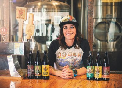 Jacquie King Wright rules the roost at the 25th Street brewery and looks forward to being more involved at the Layton location as the company grows. Photo: Talyn Sherer