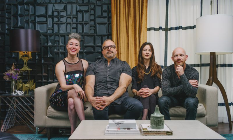 (L–R) Andrea Beecher, Brian Garrett, Moey Nelson and Jason Frederick. Photo: @clancycoop