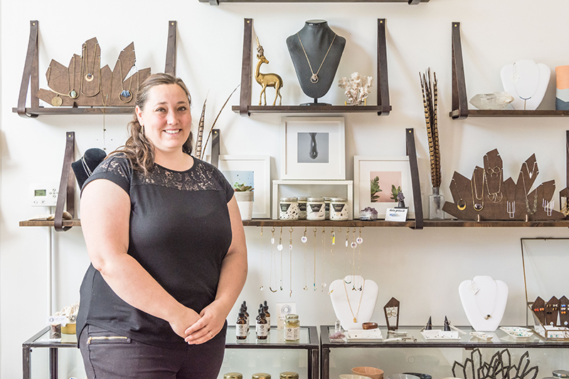 Stacey Foster (Mineral and Matter) has proudly set up shop on Pierpont, continuing the avenue's art legacy. Photo: ColtonMarsalaPhotography.com