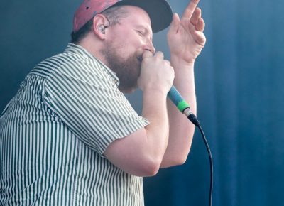 Dan Deacon providing vocals on top of the beat created seconds before. Photo: LmSorenson.net