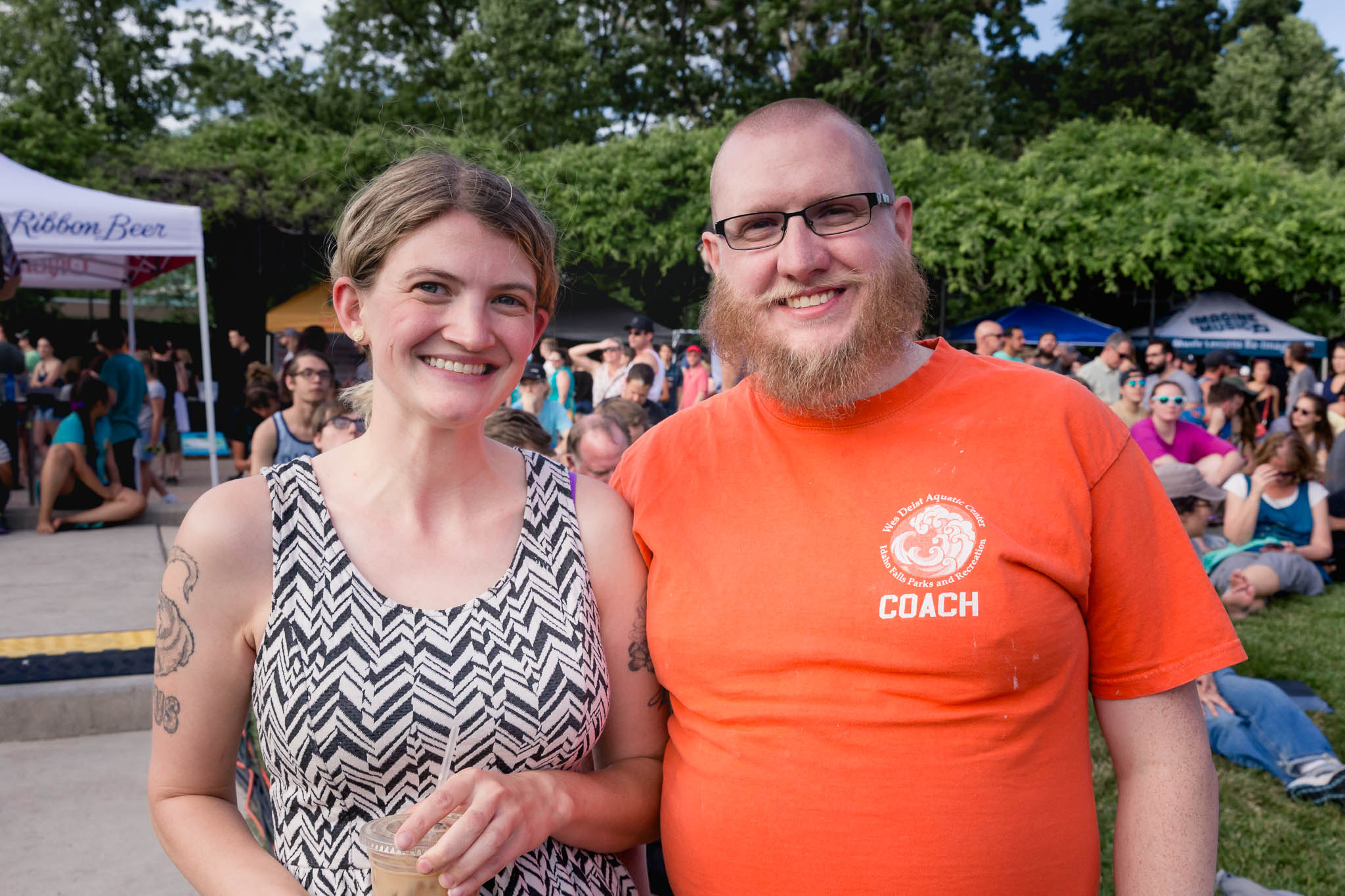 Joann and Jaren Meyers are all smiles attending this week's Ogden Twilight. Photo: Lmsorenson.net