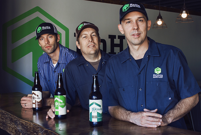 (L–R) Rob Phillips, Chris Haas and Josh Stern proudly presented the opening of the RoHa Brewing Project taproom in April. Photo: Talyn Sherer.