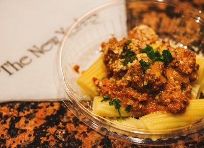The New Yorker treated us to a specialty Wild Boar Bolognese. Photo: Talyn Sherer