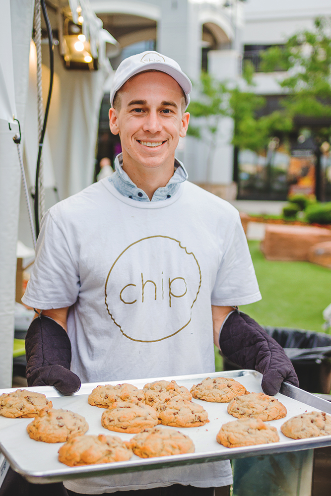 Chip's Cookies are a home-delivery service complete with a glass of milk. Now that is a business model we all can get behind. Photo: Talyn Sherer