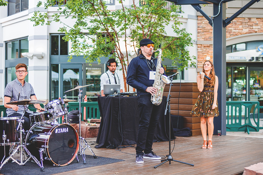 Lunar Soul performs onstage to help set the mood for the grub hub that is Tastemakers. Photo: Talyn Sherer