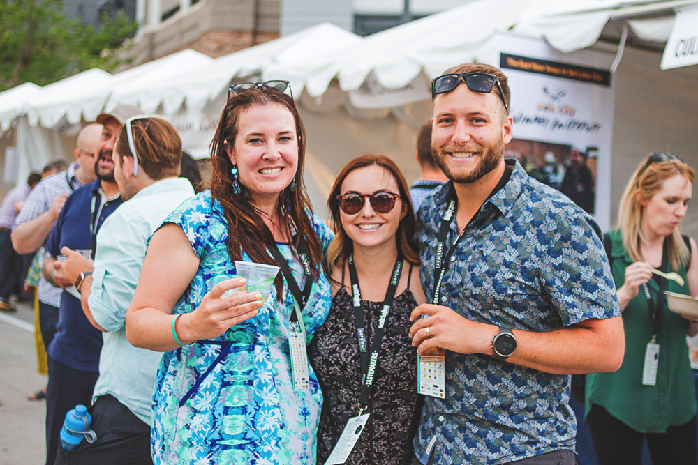 (L–R) Loren Micalizio, Lauren Call and Tyson Call were thrilled to be a part of this year's event, which brought out new vendors and those from years past. Photo: Talyn Sherer
