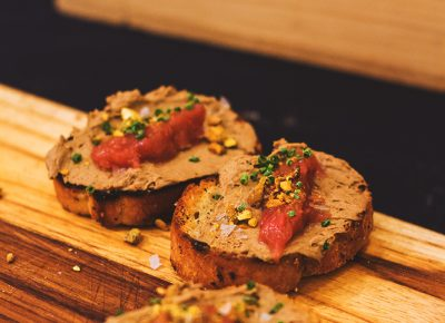 Provisions was a highlight of the event with their chicken liver mousse on a crostini, topped with strawberry rhubarb jam and pistachios. Photo: Talyn Sherer