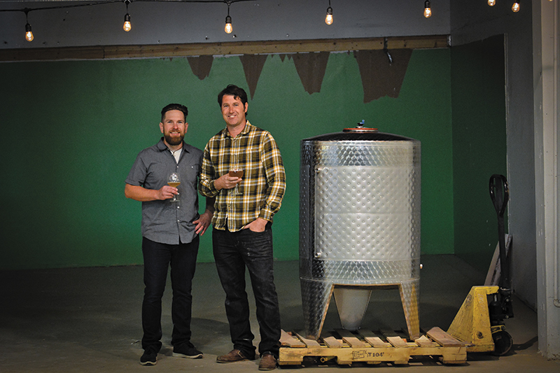 (L–R) Toasted Barrel Co-owners Lynn Litchfield and Sage Dawson plan to concentrate on sour beers at their Marmalade District brewery. Photo: Any Fitzgerrell.