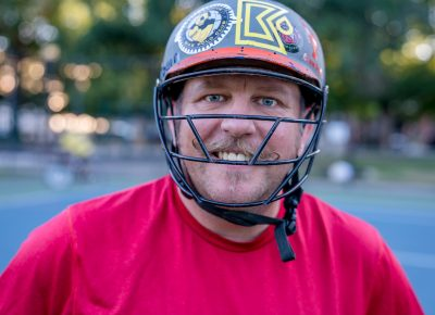 One of Salt Lake City's Bike Polo founders (est. 1993), Chuck Heaton. Photo: Jo Savage // @SavageDangerWolf