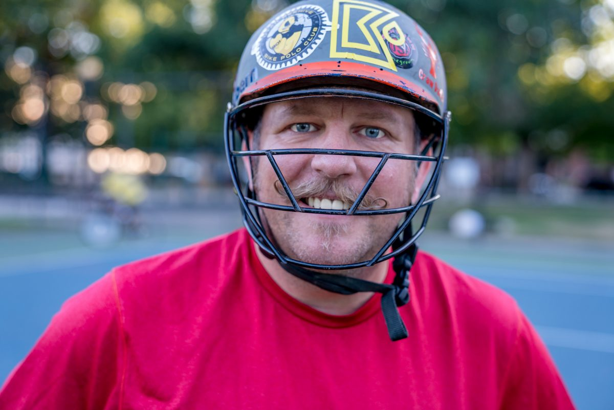 One of Salt Lake City's Bike Polo founders (est. 1993), Chuck Heaton. Photo: Jo Savage // @SavageDangerWolf