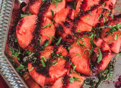 Red Rock gave us a nice refreshing slice of watermelon with a basil and raspberry sauce drizzle. Photo: Talyn Sherer