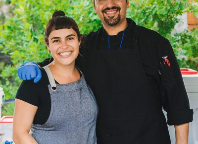 (L–R) Chefs Katrina Cutrubus and Manoli of Manoli's are making a new name for high-end Mediterranean and Greek food in the valley. Photo: Talyn Sherer