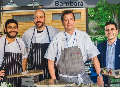 (L–R) Manager Jason Nardone, executive chef Nathan Powers, Zach Arybello and Diego Garcia are the powerhouse team that makes up Bambara. Photo: Talyn Sherer