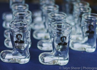 Kid Curry Spirits gave us the boot in shot glass form as we sampled out their delicious and smooth rum. Photo: Talyn Sherer