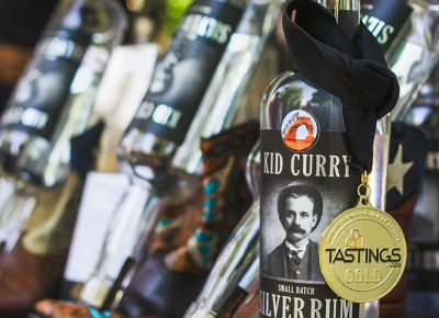 Kid Curry won the Tastings gold medal for their small-batch silver rum, which pairs well with pretty much anything. Photo: Talyn Sherer