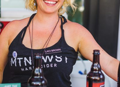 """Ciderella"" Laci Brown is part of the genius team behind Mountain West Hard Cider. Photo: Talyn Sherer"