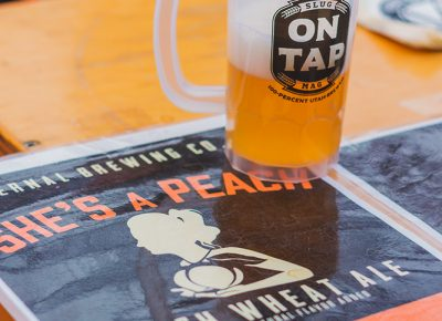 "Vernal Brewing Co. showcased their ""She's a Peach Wheat Ale,"" which was packed full of a fuzzy peach flavor that left us wanting more. Photo: Talyn Sherer"
