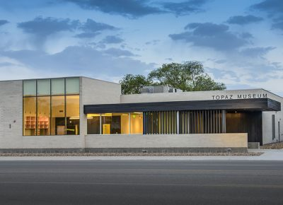 The Topaz Museum building, designed by SLC's Sparano + Mooney Architecture. Photo: Brian Buroker