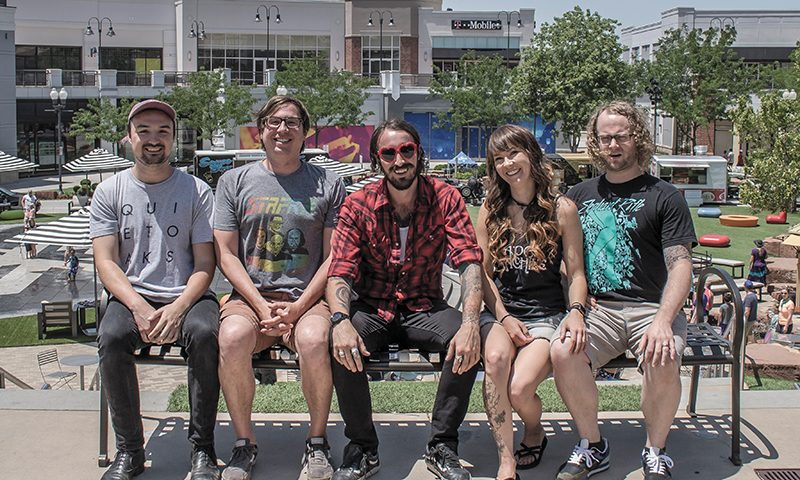 (L–R) S&S' Nic Smith, Will Sartain and Lance Saunders and Crucialfest's Tiffany Bischoff and Jarom Bischoff have programmed The Gateway as the primary venue for Crucialfest 7. Photo: Jake Vivori