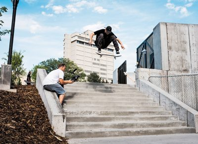 Gabe Spotts – frontside-flip. Photo: Niels Jensen