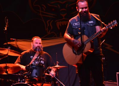 Chris Moinichen and Kirk Highberger of The Delta Bombers. Photo: Andy Fitzgerrell