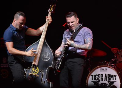 Nick 13 and Djordje Stijepovic of Tiger Army. Photo: Andy Fitzgerrell
