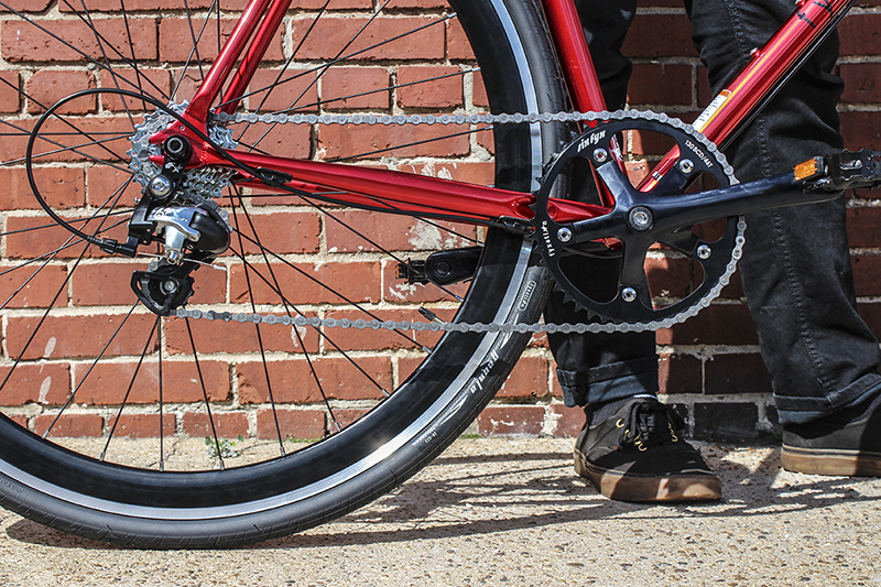 Fyxation's Syx Fyx Conversion Kit is a fully comprehensive conversion kit for fixed-gear or 120mm-rear-wheel frames, which adds gears to single-speed/fixed-gear bikes.