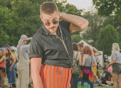 Logan Prichard looking fab at Aug. 10's Twilight show featuring Solange, Kaytranada and CHOiCE. Photo: @clancycoop