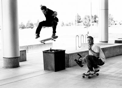 Matt fisher, nollie 180 heel at UVU. Photo: Niels Jensen