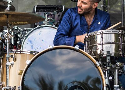 Marco Buccelli on the drums. Photo: ColtonMarsalaPhotography.com