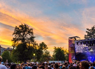 The sky caught fire during Little Dragon. Photo: ColtonMarsalaPhotography.com