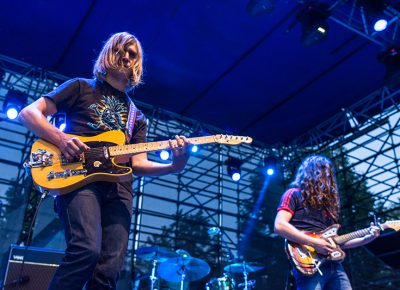 Rob Laasko and Kurt Vile jam in the fading light of the SLC sky. Photo: ColtonMarsalaPhotography.com