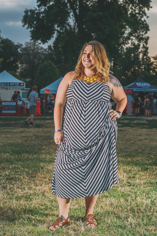 Sydney Phillips of City Weekly was stunning in her chevron dress. Photo: @clancycoop