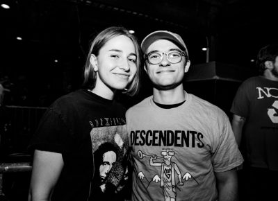 Hannah and Nick were excited for the Descendents to start. Photo: Gilbert Cisneros