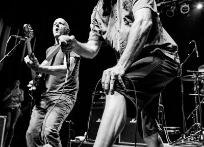 Milo Aukerman on vocals for the Descendents. Photo: Gilbert Cisneros