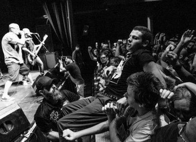 The crowd's excitement was felt throughout the Descendents set. Photo: Gilbert Cisneros