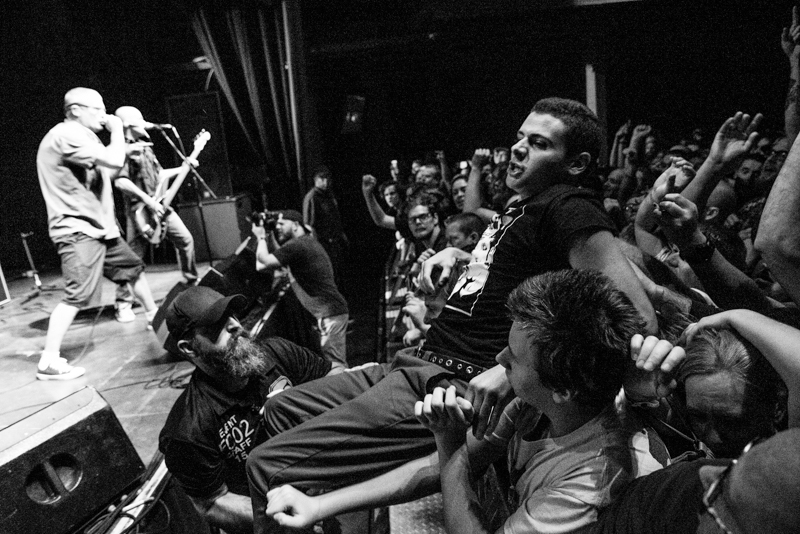 The crowd's excitement was felt throughout the Descendents set. Photo: Gilbert Cisneros