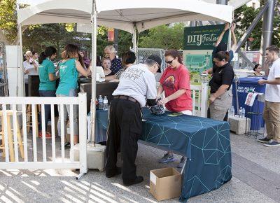Cashiers and security get patrons in the door. Photo: @jbunds