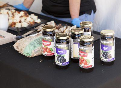 Harmons displays their own jelly alongside their bread for sampling. Photo: @jbunds