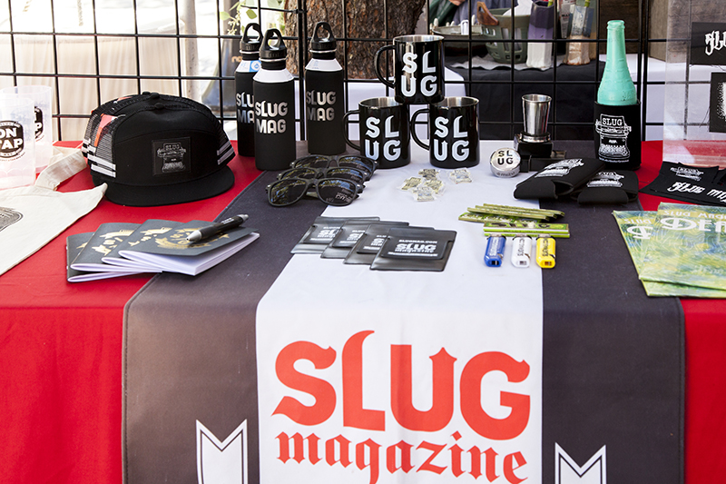 SLUG shows all sorts of swag at their table. Photo: @jbunds