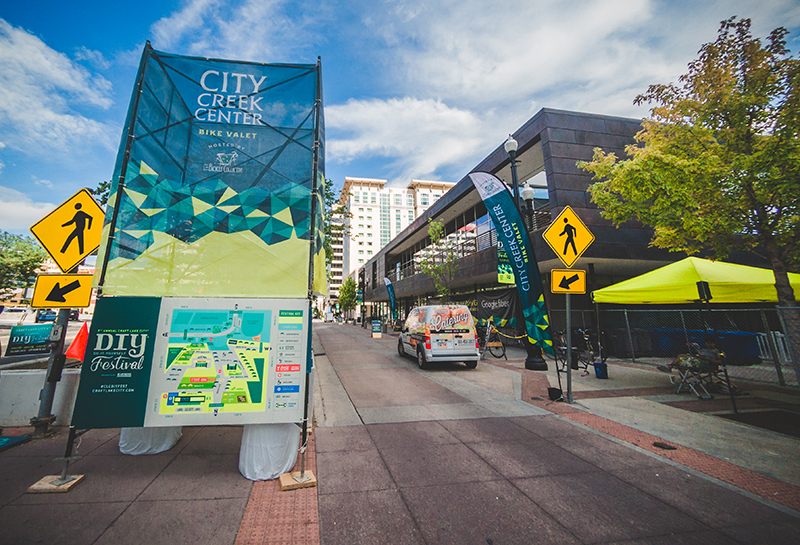 It's hard to walk anywhere Downtown without being greeted by one of the amazing CLC displays that decorate the sidewalk. Photo: @taylnshererphoto