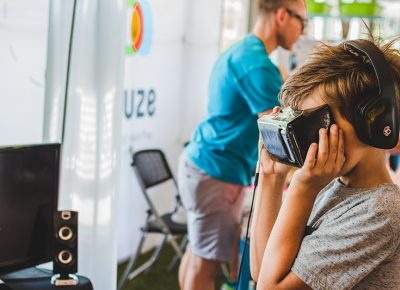 Audiowave showed their VR app that no people could not seem to put down. Photo: @taylnshererphoto